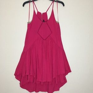 NWT! Hot pink babydoll dress.